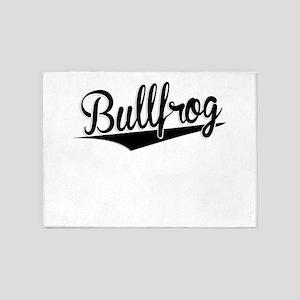 Bullfrog, Retro, 5'x7'Area Rug