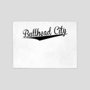 Bullhead City, Retro, 5'x7'Area Rug