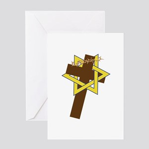 Star And Cross Greeting Cards