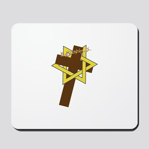 Star And Cross Mousepad