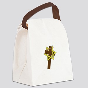 Star And Cross Canvas Lunch Bag