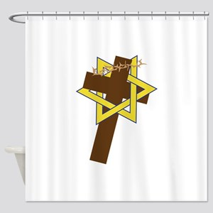 Star And Cross Shower Curtain