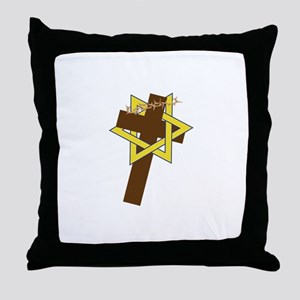 Star And Cross Throw Pillow