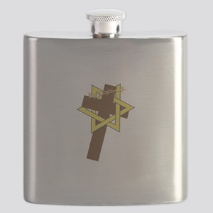 Star And Cross Flask