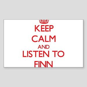 Keep Calm and Listen to Finn Sticker