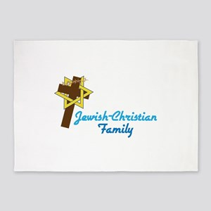 Jewish-Christian Family 5'x7'Area Rug