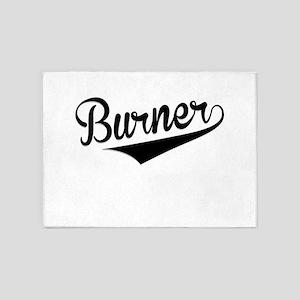 Burner, Retro, 5'x7'Area Rug