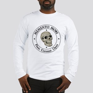 Memento Mori black Letter Long Sleeve T-Shirt