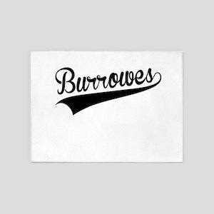 Burrowes, Retro, 5'x7'Area Rug