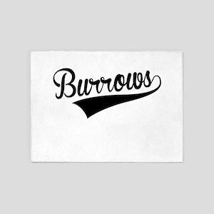 Burrows, Retro, 5'x7'Area Rug