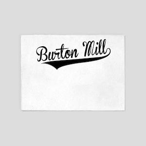 Burton Mill, Retro, 5'x7'Area Rug
