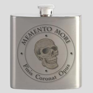 Memento Mori black Letter Flask