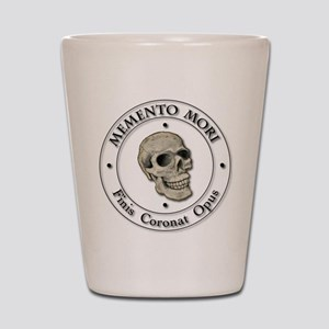 Memento Mori black Letter Shot Glass