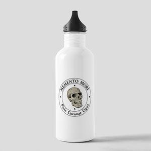 Memento Mori black Letter Water Bottle