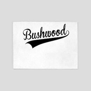 Bushwood, Retro, 5'x7'Area Rug