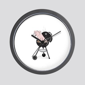 Pig Roast Wall Clock