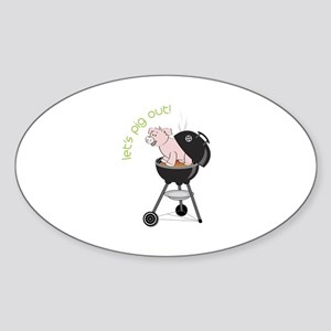 lets pig out! Sticker