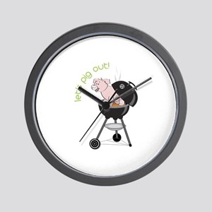 lets pig out! Wall Clock
