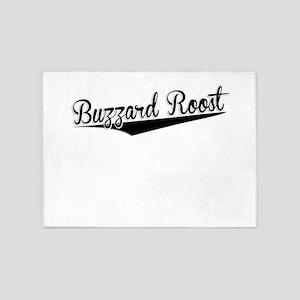 Buzzard Roost, Retro, 5'x7'Area Rug