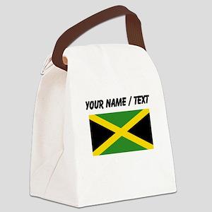 Custom Jamaica Flag Canvas Lunch Bag