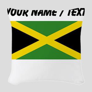 Custom Jamaica Flag Woven Throw Pillow