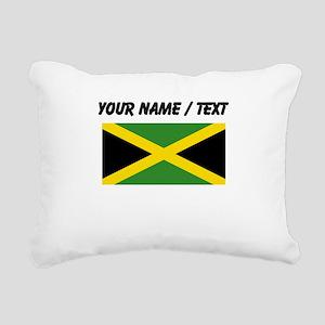 Custom Jamaica Flag Rectangular Canvas Pillow