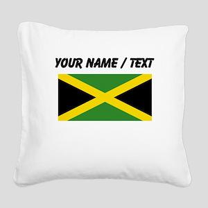 Custom Jamaica Flag Square Canvas Pillow