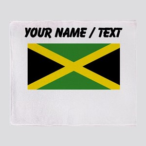 Custom Jamaica Flag Throw Blanket