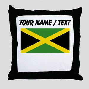 Custom Jamaica Flag Throw Pillow
