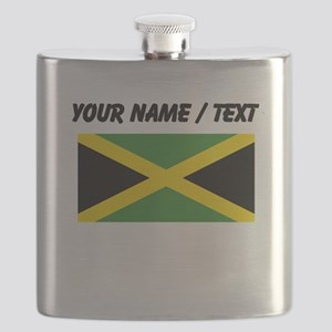 Custom Jamaica Flag Flask