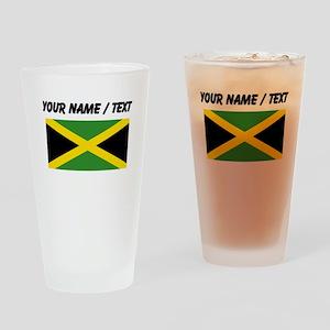 Custom Jamaica Flag Drinking Glass