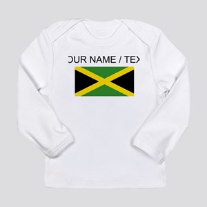 Custom Jamaica Flag Long Sleeve T-Shirt