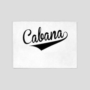 Cabana, Retro, 5'x7'Area Rug