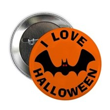 Batty I Love Halloween Button