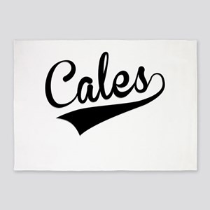 Cales, Retro, 5'x7'Area Rug