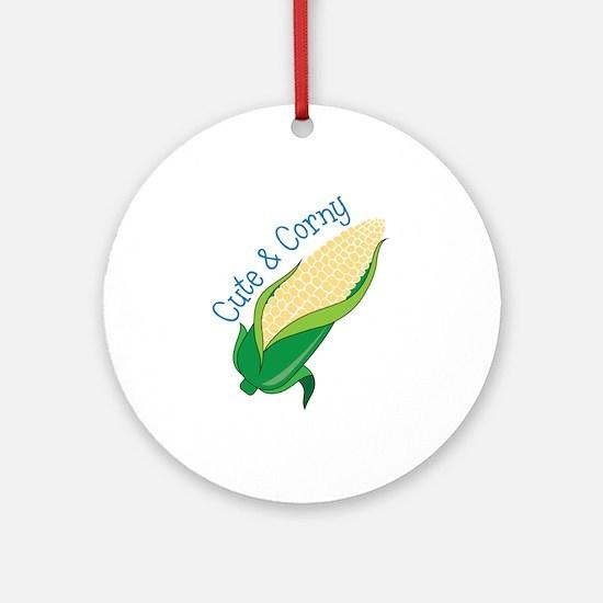 Cute Corny Ornament (Round)