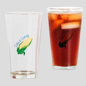 Cute Corny Drinking Glass