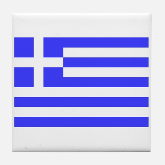 Very Large Greek Flag Tile Coaster