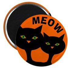 Halloween Black Cats Magnet