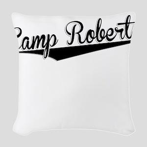 Camp Roberts, Retro, Woven Throw Pillow