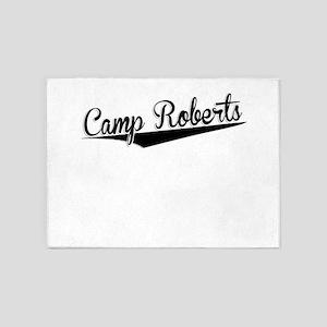 Camp Roberts, Retro, 5'x7'Area Rug