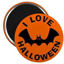 Batty I Love Halloween Magnet