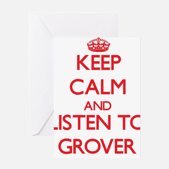 Keep Calm and Listen to Grover Greeting Cards