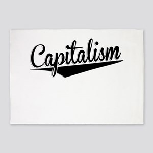 Capitalism, Retro, 5'x7'Area Rug