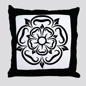 rose of yorkshire lancashire Throw Pillow
