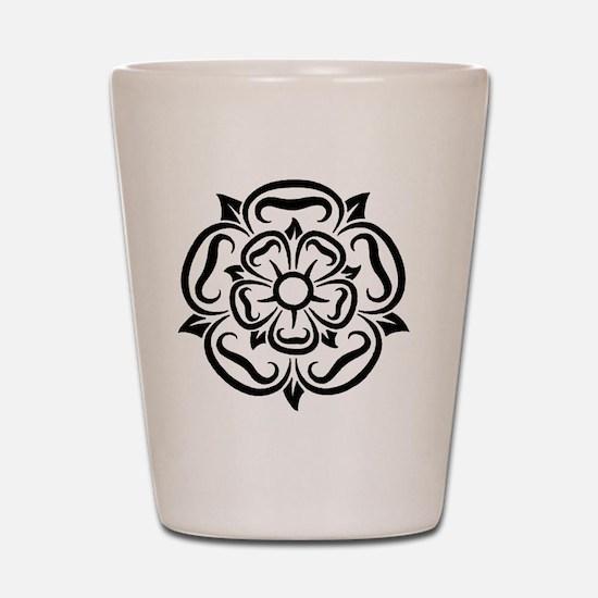 rose of yorkshire lancashire Shot Glass