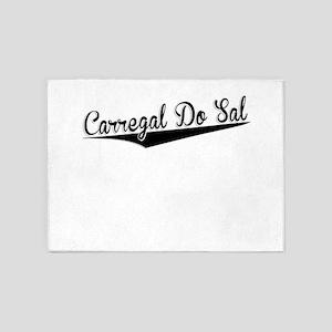 Carregal Do Sal, Retro, 5'x7'Area Rug