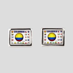 Colombia futbol soccer Rectangular Cufflinks