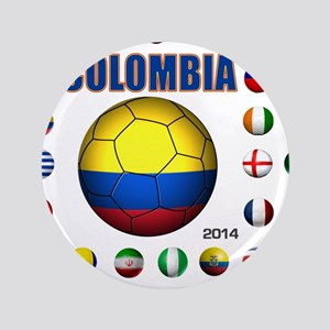 "Colombia futbol soccer 3.5"" Button"