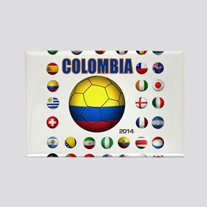 Colombia futbol soccer Magnets